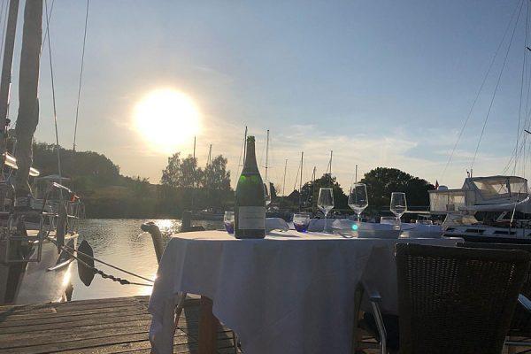 Restaurant im Seglerhafen von Seedorf auf der Insel Rügen